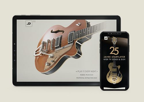 Duesenberg Guitars: Website Relaunch